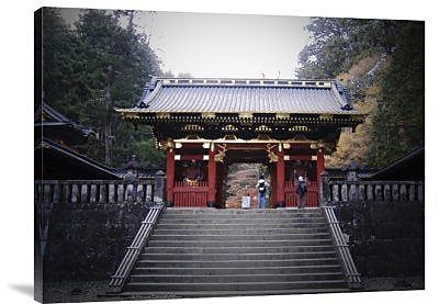 Naxart 'Red Gates and Temple' Photographic Print on Canvas; 18'' H x 24'' W x 1.5'' D