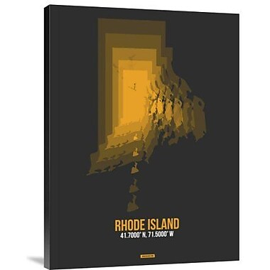 Naxart 'Rhode Island Radiant Map 4' Graphic Art Print on Canvas; 16'' H x 12'' W x 1.5'' D