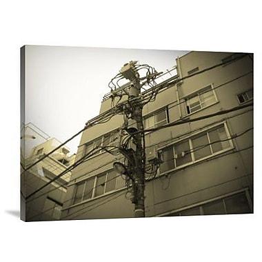 Naxart 'Tokyo City Electric Pole' Photographic Print on Canvas; 12'' H x 16'' W x 1.5'' D
