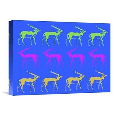 Naxart 'Safari 10' Graphic Art Print on Canvas; 18'' H x 24'' W x 1.5'' D