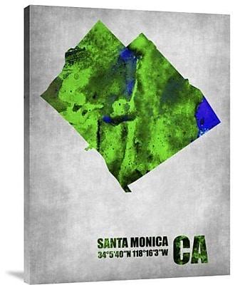 Naxart 'Santa Monica California' Graphic Art Print on Canvas; 40'' H x 30'' W x 1.5'' D