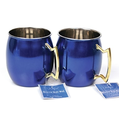 Brayden Studio Kingsview 16 Oz. Moscow Mule Mug (Set of 2); Blue