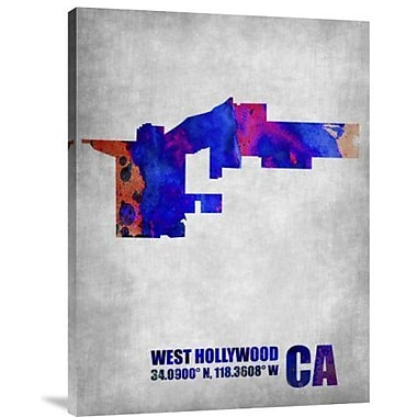 Naxart 'West Hollywood California' Graphic Art Print on Canvas; 16'' H x 12'' W x 1.5'' D
