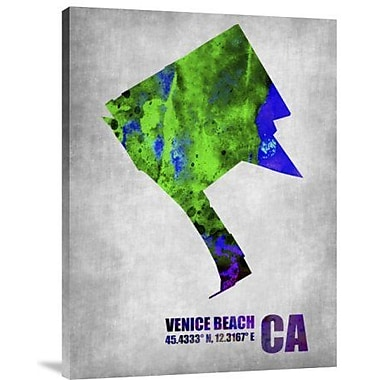 Naxart 'Venice Beach California' Graphic Art Print on Canvas; 40'' H x 30'' W x 1.5'' D