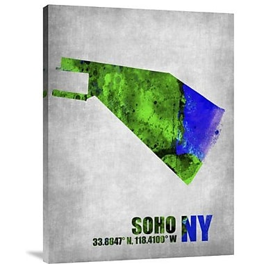Naxart 'Soho New York' Graphic Art Print on Canvas; 24'' H x 18'' W x 1.5'' D