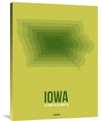 Naxart 'Iowa Radiant Map 2' Graphic Art Print on Canvas; 40'' H x 30'' W x 1.5'' D