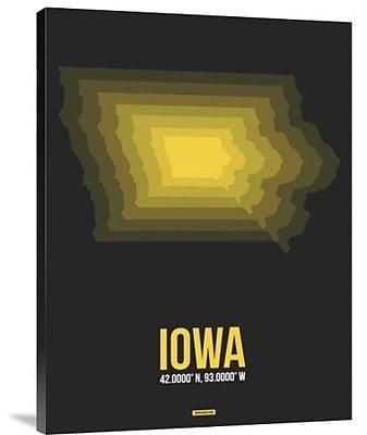 Naxart 'Iowa Radiant Map 4' Graphic Art Print on Canvas; 32'' H x 24'' W x 1.5'' D