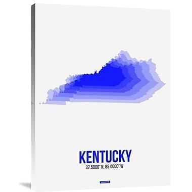 Naxart 'Kentucky Radiant Map 2' Graphic Art Print on Canvas; 32'' H x 24'' W x 1.5'' D
