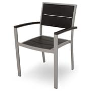 Trex Trex Outdoor Surf City Dining Arm Chair; Textured Silver/Charcoal Black