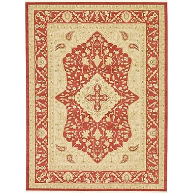 World Menagerie Willow Red Area Rug; 5' x 8'