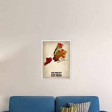 Naxart 'New York City Watercolor Map 2' Graphic Art Print on Canvas; 32'' H x 24'' W x 1.5'' D