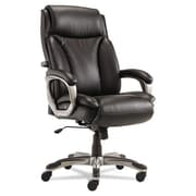 Latitude Run Perkins Leather Executive Chair; Black