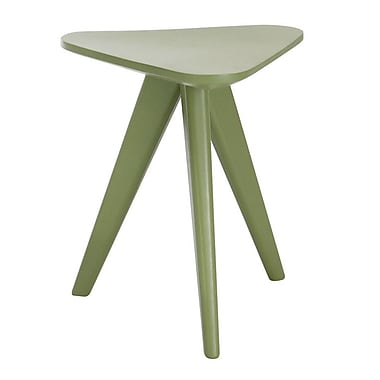 Brayden Studio Annadale End Table; Green Lacquer