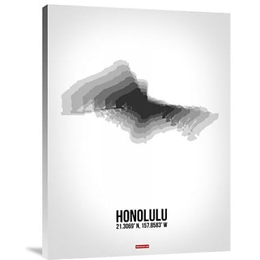 Naxart 'Honolulu Radiant Map 6' Graphic Art Print on Canvas; 32'' H x 24'' W x 1.5'' D