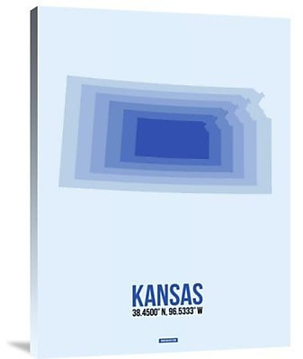 Naxart 'Kansas Radiant Map 3' Graphic Art Print on Canvas; 40'' H x 30'' W x 1.5'' D