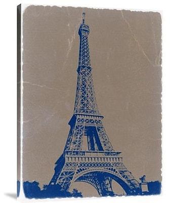 Naxart 'Eiffel Tower Blue' Photographic Print on Canvas; 16'' H x 12'' W x 1.5'' D