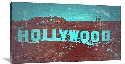 Naxart 'Hollywood Sign' Graphic Art Print on Canvas; 22'' H x 40'' W x 1.5'' D