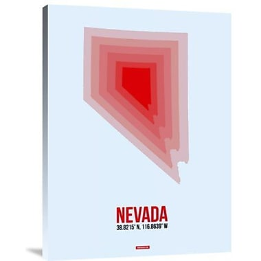 Naxart 'Nevada Radiant Map 1' Graphic Art Print on Canvas; 24'' H x 18'' W x 1.5'' D