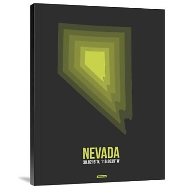 Naxart 'Nevada Radiant Map 4' Graphic Art Print on Canvas; 32'' H x 24'' W x 1.5'' D