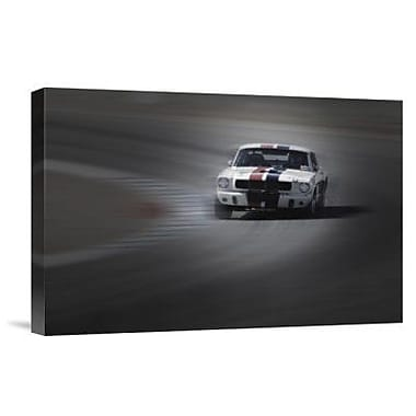 Naxart 'Mustang on the Racing Circuit' Photographic Print on Canvas; 12'' H x 18'' W x 1.5'' D