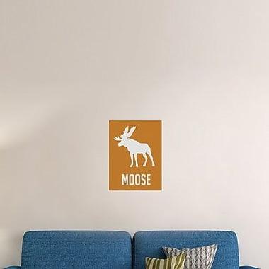 Naxart 'Moose White' Graphic Art Print on Canvas; 40'' H x 30'' W x 1.5'' D