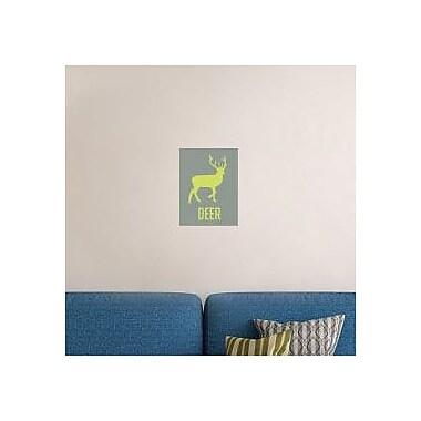 Naxart 'Deer Green' Graphic Art Print on Canvas; 24'' H x 18'' W x 1.5'' D