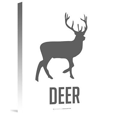 Naxart 'Deer Black' Graphic Art Print on Canvas; 16'' H x 12'' W x 1.5'' D