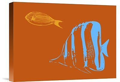 Naxart 'Aquarium 2' Graphic Art Print on Canvas; 30'' H x 40'' W x 1.5'' D
