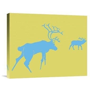 Naxart 'Blue Deer' Graphic Art Print on Canvas; 20'' H x 24'' W x 1.5'' D