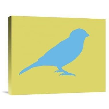 Naxart 'Blue Bird' Graphic Art Print on Canvas; 28'' H x 35'' W x 1.5'' D