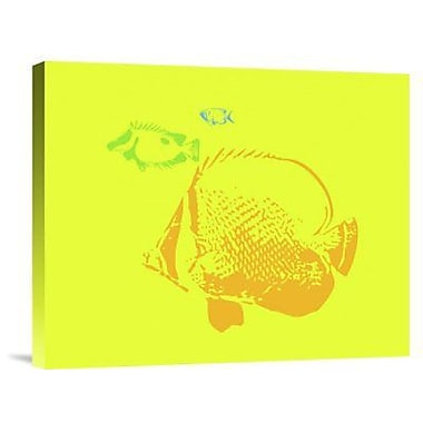 Naxart 'Aquarium 3' Graphic Art Print on Canvas; 20'' H x 24'' W x 1.5'' D
