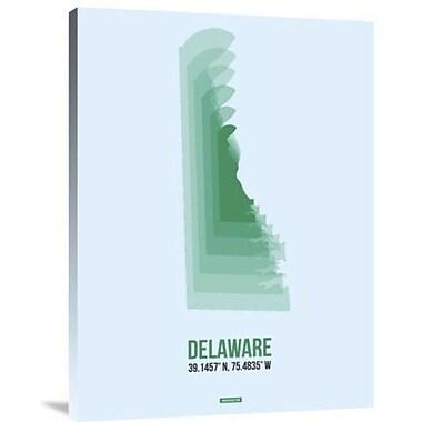 Naxart 'Delaware Radiant Map 2' Graphic Art Print on Canvas; 32'' H x 24'' W x 1.5'' D