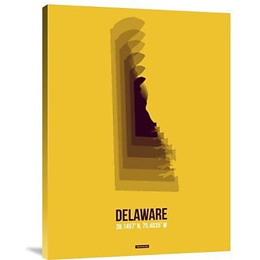Naxart 'Delaware Radiant Map 3' Graphic Art Print on Canvas; 16'' H x 12'' W x 1.5'' D