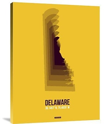 Naxart 'Delaware Radiant Map 3' Graphic Art Print on Canvas; 32'' H x 24'' W x 1.5'' D