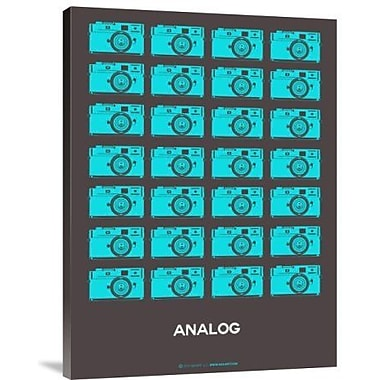 Naxart 'Analog Blue Camera' Graphic Art Print on Canvas; 24'' H x 18'' W x 1.5'' D