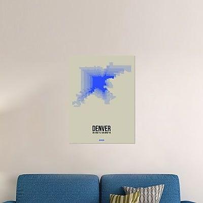 Naxart 'Denver Radiant Map 2' Graphic Art Print on Canvas; 40'' H x 30'' W x 1.5'' D