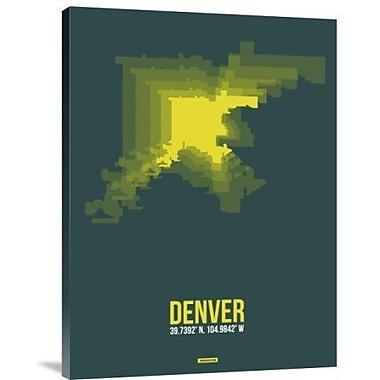 Naxart 'Denver Radiant Map 3' Graphic Art Print on Canvas; 40'' H x 30'' W x 1.5'' D