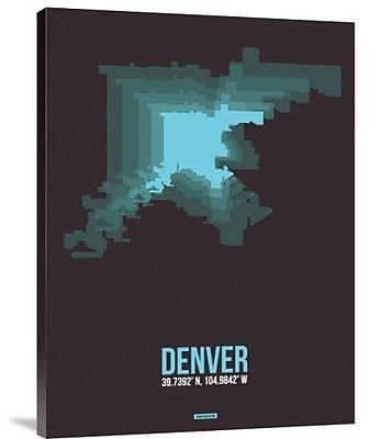 Naxart 'Denver Radiant Map 4' Graphic Art Print on Canvas; 24'' H x 18'' W x 1.5'' D