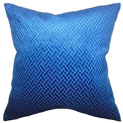 Brayden Studio Halethorpe Brielle Solid Velvet Throw Pillow; 18''x18''