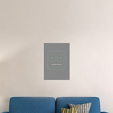 Naxart 'Stop Staring at My Tweets' Graphic Art Print on Canvas; 36'' H x 25'' W x 1.5'' D