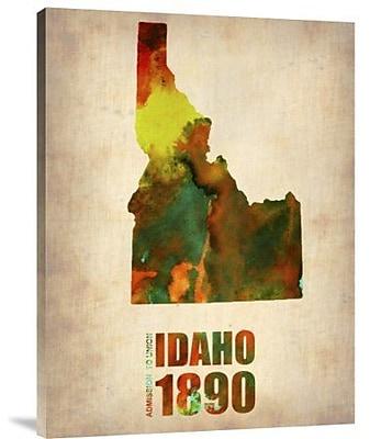Naxart 'Idaho Watercolor Map' Graphic Art Print on Canvas; 40'' H x 30'' W x 1.5'' D