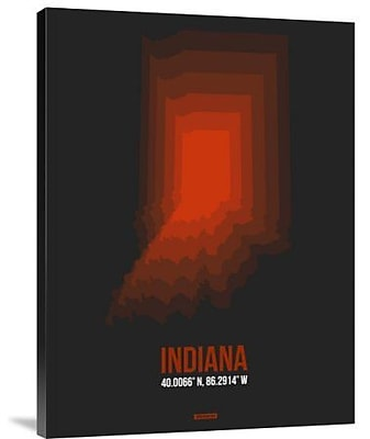 Naxart 'Indiana Radiant Map 4' Graphic Art Print on Canvas; 24'' H x 18'' W x 1.5'' D