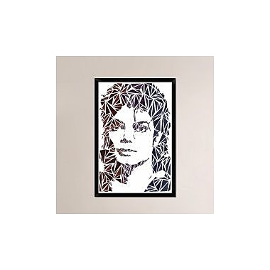Naxart 'Michael Jackson' Framed Graphic Art Print on Canvas; 38'' H x 26'' W x 1.5'' D