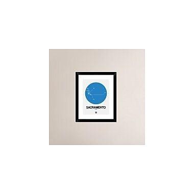 Naxart 'Sacramento Blue Subway Map' Framed Graphic Art Print; 22'' H x 18'' W x 1.5'' D