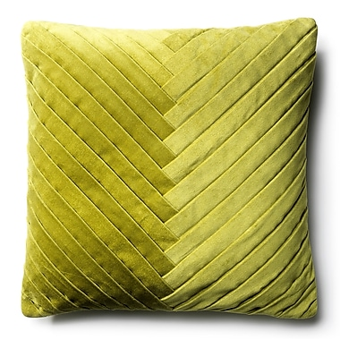 Brayden Studio Northwick Cotton Velvet Throw Pillow; Green