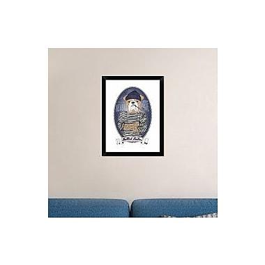 Naxart 'Bulldog Sailor w/ Tattoo' Framed Graphic Art Print on Canvas; 26'' H x 20'' W x 1.5'' D