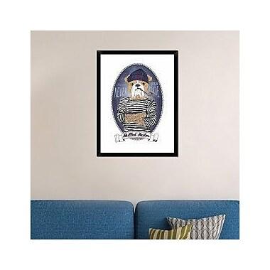 Naxart 'Bulldog Sailor w/ Tattoo' Framed Graphic Art Print on Canvas; 34'' H x 26'' W x 1.5'' D