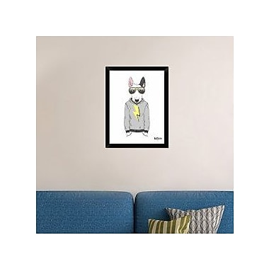 Naxart 'Bull Terrier in City Style' Framed Graphic Art Print on Canvas; 26'' H x 20'' W x 1.5'' D