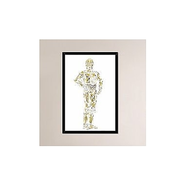 Naxart 'C-3PO' Framed Graphic Art Print on Canvas; 38'' H x 26'' W x 1.5'' D