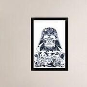 Naxart 'Darth Vader Mask' Framed Graphic Art Print on Canvas; 26'' H x 18'' W x 1.5'' D